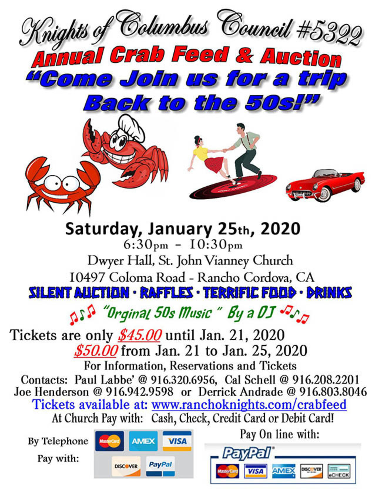 Crab Feed Flyer 2020s