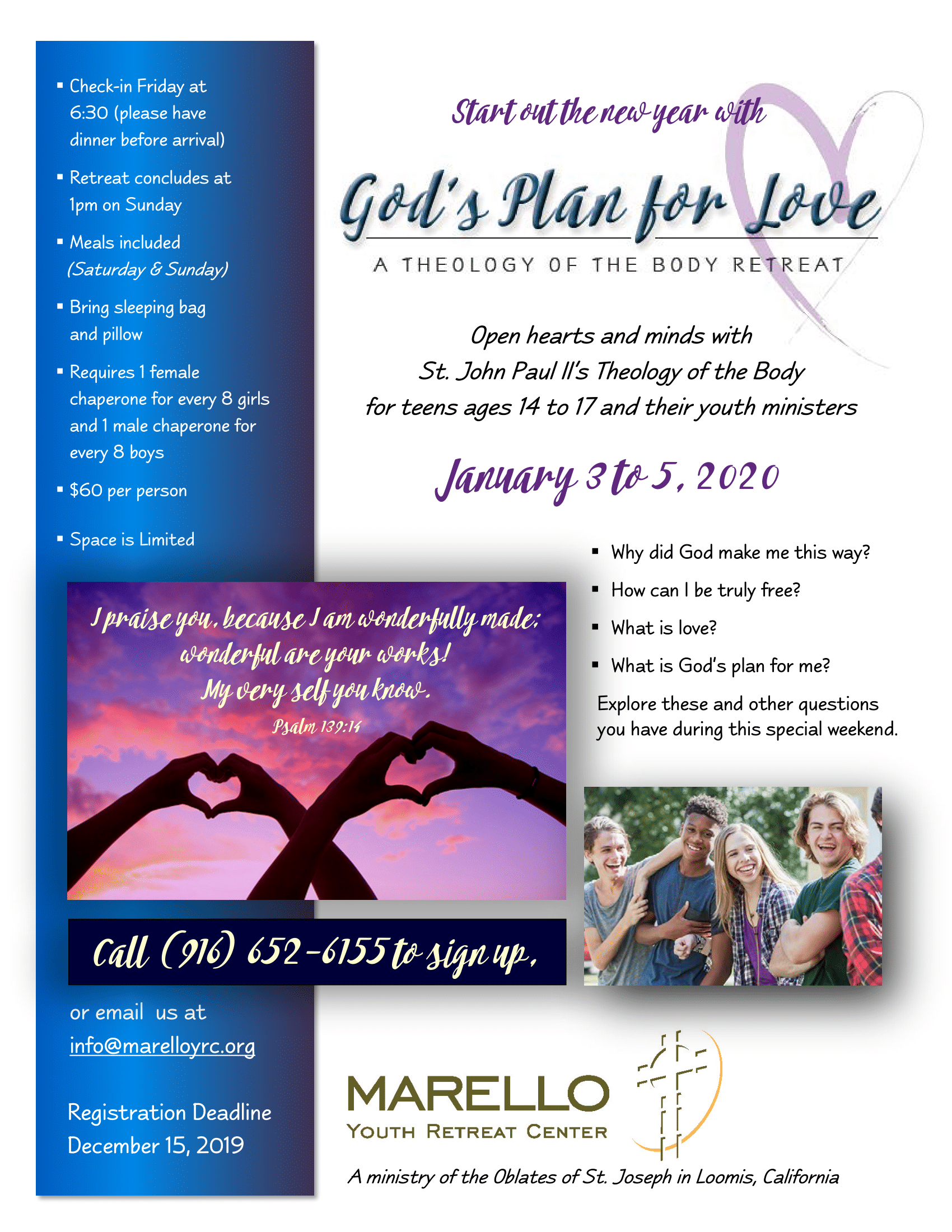 Gods Plan For Love TOB Retreat For Teens