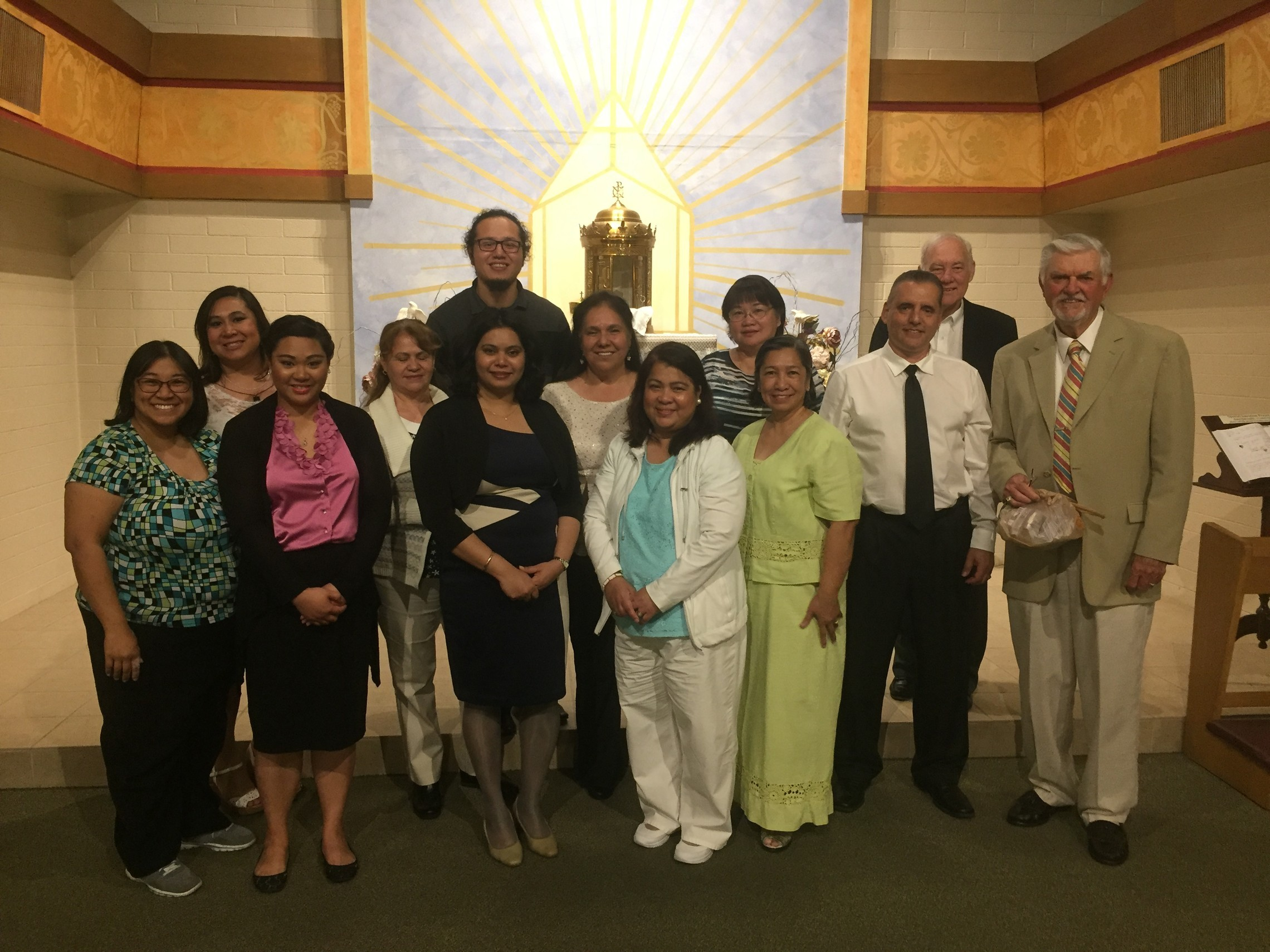 Combined Choir for Easter Vigil 2017